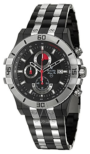 Bulova Men's 98B117 Marine Star Black Dial ()