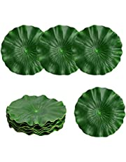 Udefineit 10PCS Artificial Lotus Leaves, Fake Green Leaf Place Mat Table Runner Coaster, Floating Foam Artificial Foliage for Home Outdoor Patio Pond Aquarium Wedding Party Decorations