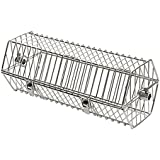 Onlyfire 17-inch Stainless Steel Round Tumble Rotisserie Spit Rod Basket Fits Any Grill