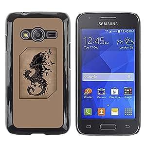 Be Good Phone Accessory // Dura Cáscara cubierta Protectora Caso Carcasa Funda de Protección para Samsung Galaxy Ace 4 G313 SM-G313F // dragon fairytale brown black birds