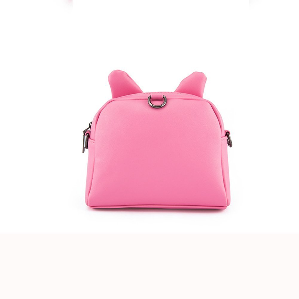 Pinky Family Cute Cat Ear Kids Handbags Candy Color Crossbody Bags PU  Leather Shoulder Bags ... c2b4e8e823e37