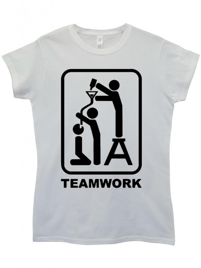 TEAM WORK BEER FUNNEL T Shirt