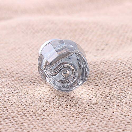 boutons de tiroir en verre cristal//poign/ée armoire placard poign/ée 10pcs 25mm boutons de porte en verre cristal clair en forme de rose