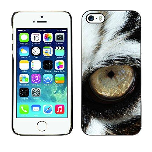 Premio Sottile Slim Cassa Custodia Case Cover Shell // V00002195 oeil de tigre // Apple iPhone 5 5S 5G