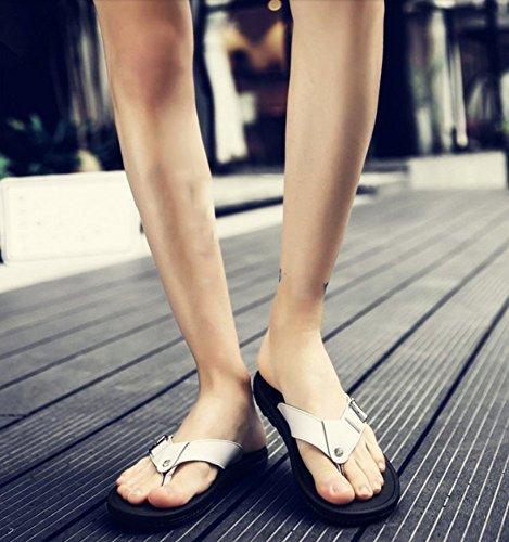 casual uomo da da sandali trascinamento marea uomo infradito estate sandali in uomo da da WFL da parola scarpe drag uomo bianca Pantofole da spiaggia pelle uomo wq6xq8vfF