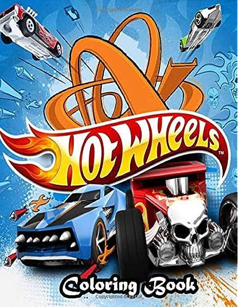 Amazon.com: Hot Wheels Coloring Book: Drawing Art 8.5 X 11
