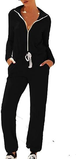 Naliha Womens Casual Jumpsuits Rompers Long Sleeve Sport Winter Sweatshirt Jumpsuit Amazon Ca Clothing Accessories