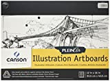 Canson Plein Air Illustration Smooth Art Board Pad for Ink, Markers and Pencils, 12 x 16 Inch, Set of 10 Boards