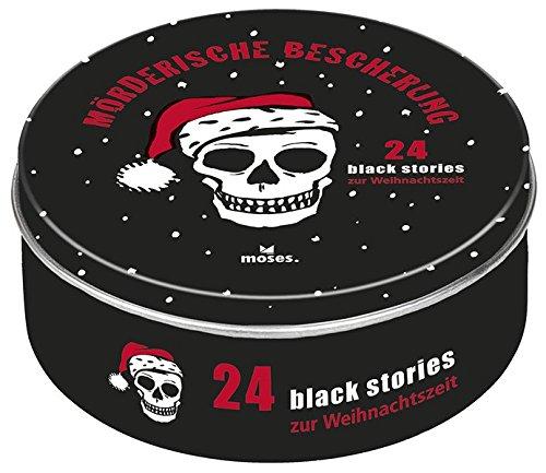 Moses Black Stories Mörderische Bescherung | 24 rabenschwarze Rätsel zur Weihnachtszeit | Adventskalender Corinna Harder Jens Schumacher Bernhard Skopnik moses. Verlag GmbH