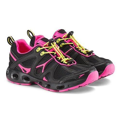 Speedo Women's Hydro Comfort 4.0 Water Shoe, Black/Pink 6 C/D US