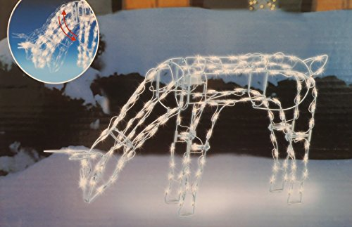 Outdoor Lighted Reindeer With Moving Head - 4