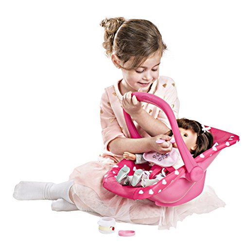 My First Doll Car Seat Infant Seat, ADJUSTABLE CARRIER – Converts from Rocking Bouncer Baby Doll Carrier to Feeding Seat –Pretend Play Toy