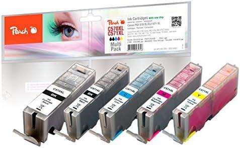 Peach 319681 cartucho de tinta - Cartucho de tinta para impresoras (Negro, Cian, Magenta, Foto negro, Amarillo, Negro, Canon, PGI-570XL, CLI-571XL, ...
