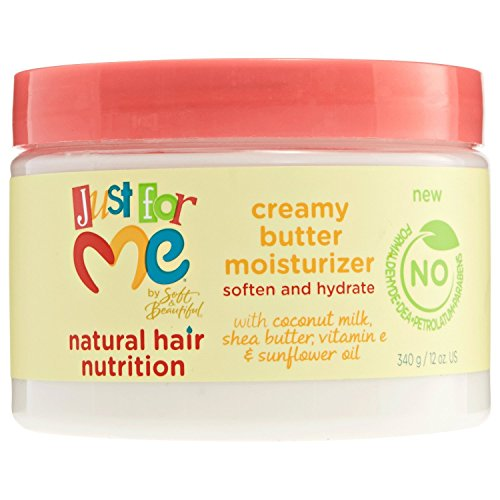 Price comparison product image Just For Me Natural Hair Nutrition Creamy Butter Moisturizer, 12 Ounce