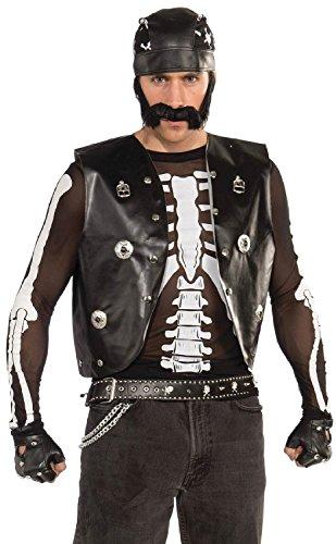 Forum Novelties Men's Mesh Skeleton Shirt, Black/White, One Size
