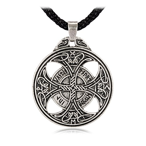 LAN27 Celtic Knot Love Cross Pendant Viking Norse Rune Necklace