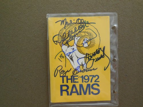 1972 Rams media guide hand signed by Merlin Olson, Deacon Jones and others