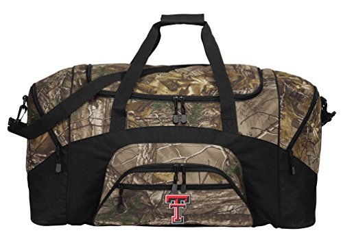 Broad Bay Large Realtree Camo Texas Tech Duffel Bag Or Camo Texas Tech Gym Bag by Broad Bay