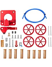 Super Print Dual Gear Extruder Kit,4PCS Hand Twist Leveling Nut with 8PCS Hot Bed Die Springs,1.2M PTFE bowden Tubing For Ender 3 V2/3/3 Pro/Ender 5 /CR-10/10S.