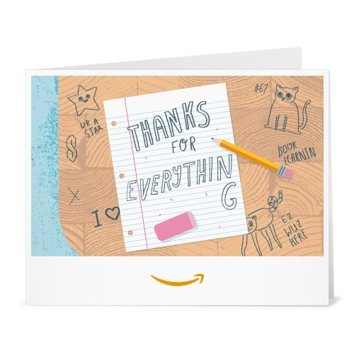Amazon Gift Card - Print - Thank You Teacher (Desk)