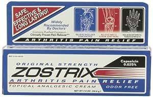 Zostrix Topical Analgesic Cream for Arthritis Pain, 2 Ounce Tube