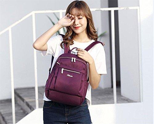 à large Chiffon Sac en Oxford Coréen Mode Sac Femelle et Marée Dos Décontracté Sac MSZYZ Sac Nylon Purple 5F8wq0xTq