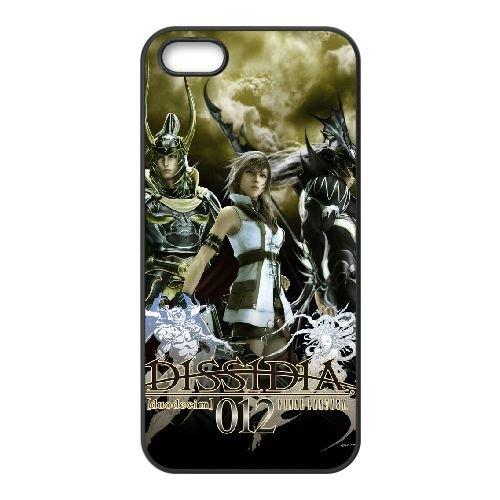 D3K57 Dissidia Final Fantasy S7L5KY coque iPhone 5 5s cellulaire cas de téléphone couvercle coque noire WR1TQG8FX