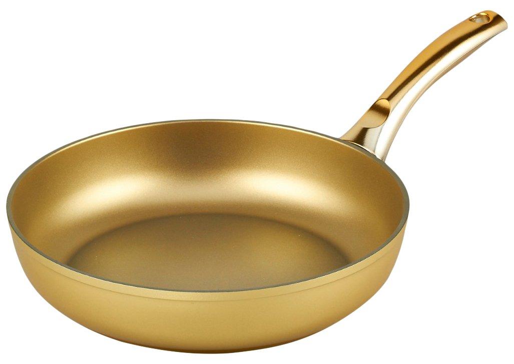 Amazon.com: Bisetti bt-29112 Stonegold sartén, pequeño, oro ...