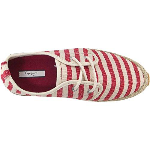 Pepe Jeans Babel W Stripes PLS10371 Damen Halbschuhe rot/beige (salsa)