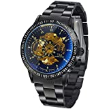 TSS Men's T5009HC35 Automatic Skeleton Diver Beze Watch with Stainless Steel Band