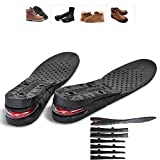 Flexzion Unisex Increase Insole 4 Layer Height Shoes Heel Full Insert Lift Elevator Air Cushion Pad 9cm (Approximately 3.5 inches) Taller for Adult Men Women Size USA 4.5-9