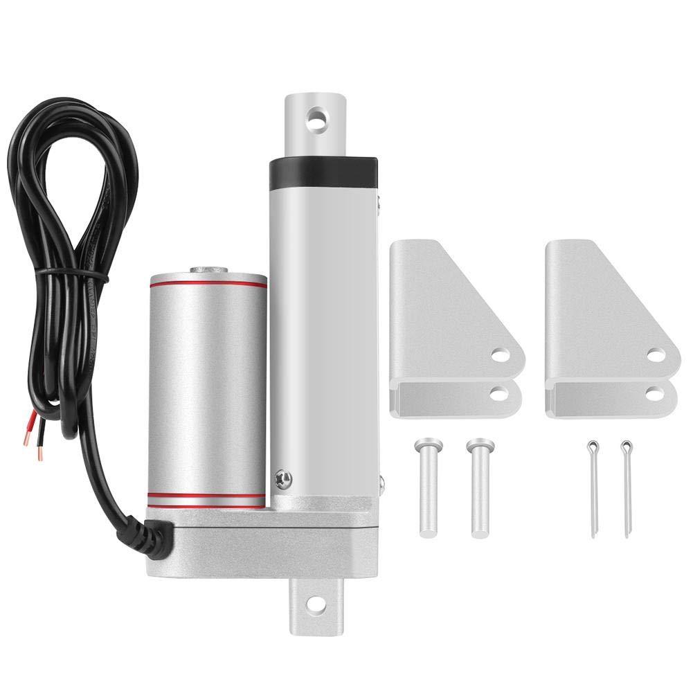 Actuador lineal de 50 mm de carrera Actuadores lineales de movimiento lineal eléctrico de alto rendimiento de 24 V y 750 N con soportes de montaje