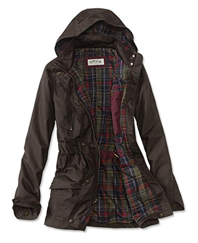 Orvis Women's River Road Waxed Cotton Jacket, Olive Drab, Medium