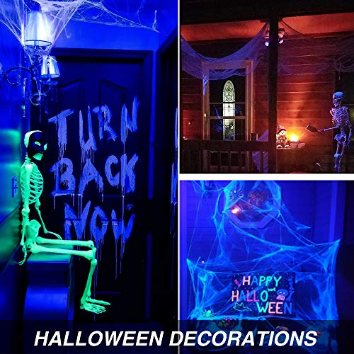Onforu UV LED Black Lights Bulb, 7W A19 E26 Bulb, UVA Level 385-400nm, Glow in The Dark for Blacklight Party, Body Paint, Fluorescent Poster, Neon Glow (2 Pack) by Onforu (Image #6)