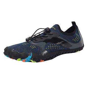 OHQ Zapatos De Agua Hombre Secado RáPido Piscina Playa Nadar con CordóN Zapatos De Buceo Creek Suela Antideslizante Descalzo AcuáTico Aqua Calcetines De ...