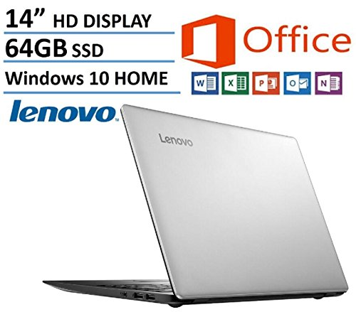 Lenovo Ideapad 14-inch High Performance Laptop (Edition) Intel Dual-Core Processor 2.16GHz 2GB RAM 64GB SSD Webcam HDMI Windows 10 Home 64bit Microsoft Office 365 1-year ($70 Value)
