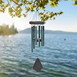 Sinfinate Wind Chimes Outdoor Amazing Grace, Personalized Wind Chimes,Memorial Garden Wind Chimes Green For Sale