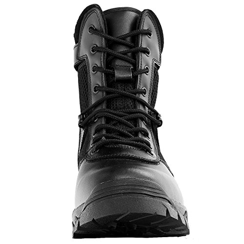 df811c22e04 Maelstrom Men's LANDSHIP 8 Inch Military Tactical Duty Work Boot with Zipper