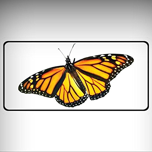Monarch Butterfly Full Photo License Platefor Home/Man Cave Decor by PrettyMerchant - Monarch Metal Tags