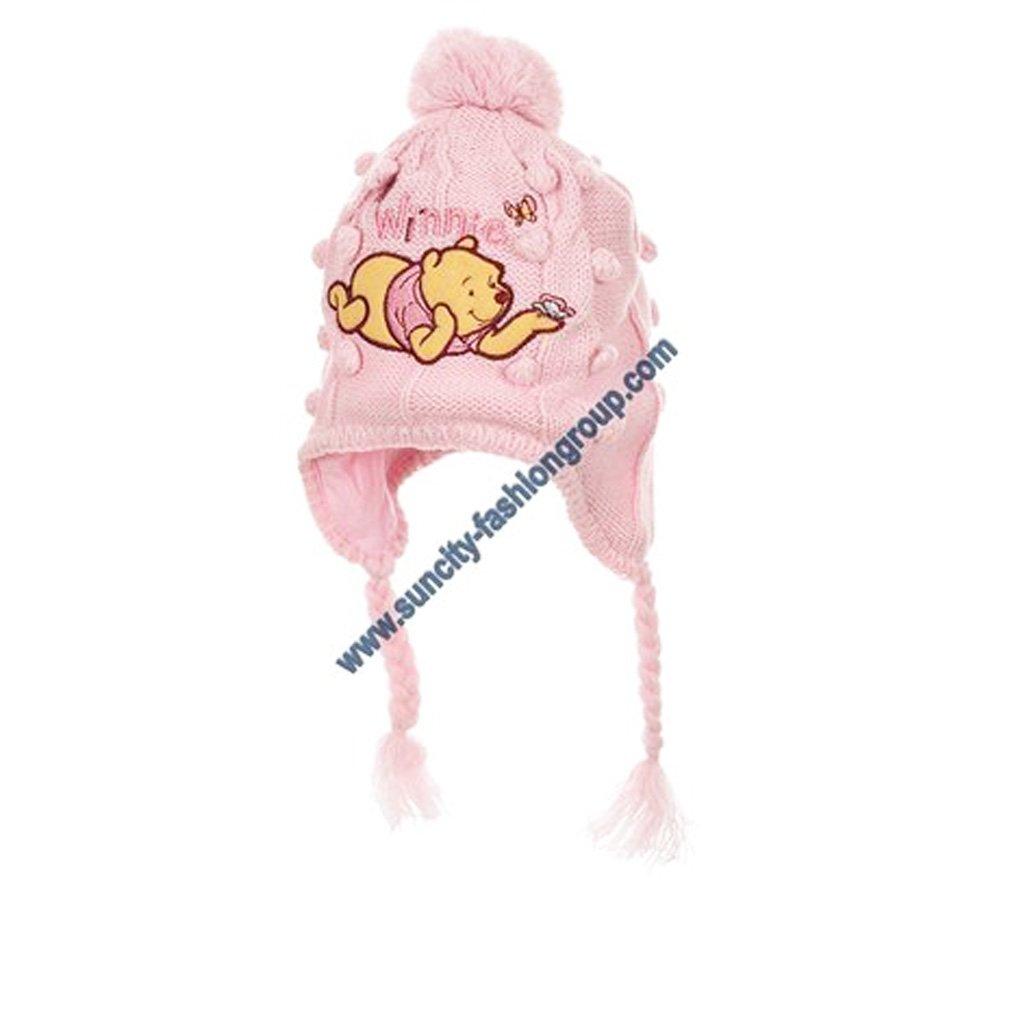 719171b1c5c0 Winnie lourson Echarpe bonnet péruvien bébé fille Ecru Rose de 3 à 9mois Winnie  L ourson ...