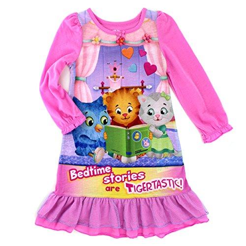 [Daniel Tiger Toddler Girls' Gown, Pink, 4T] (Tiger Costumes Girls)