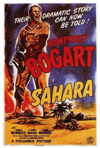 Sahara Movie Poster (27 x 40 Inches - 69cm x 102cm) (1943) -(Humphrey Bogart)(Lloyd Bridges)(Rex Ingram)(Bruce Bennett) Sahara Movie Poster