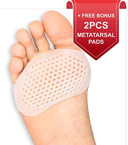Metatarsal Pads Ball of Foot Cushions - Soft Gel Ball of Foot Pads - Mortons Neuroma Callus Metatarsal Foot Pain Relief Bunion Forefoot Cushioning Relief Women Men by BRISON