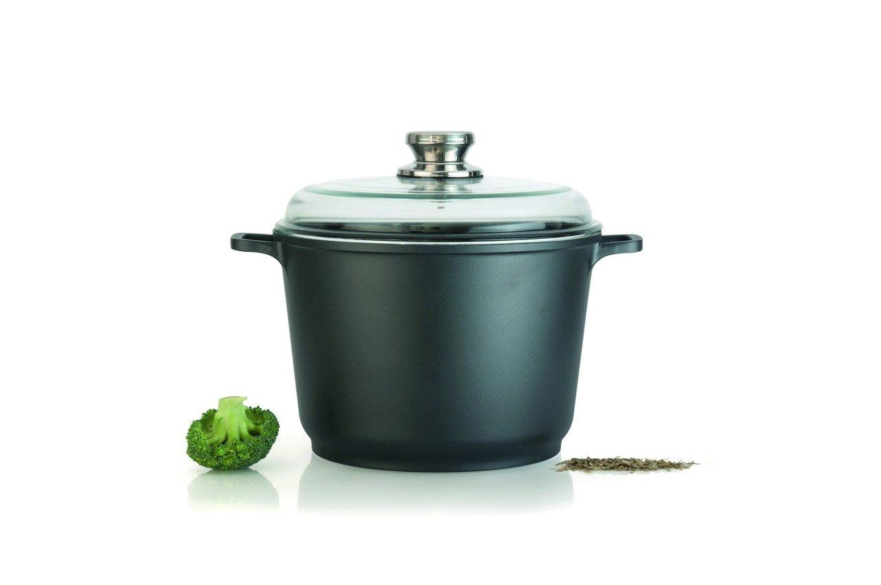 Eurocast Professional Cookware 8'' 3.5L Casserole Pot with Glass Lid
