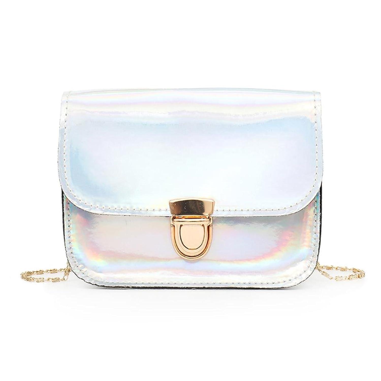 a384207de6bb chic Women Shoulder Bags Rakkiss Laser PU Leather Messenger Handbags ...