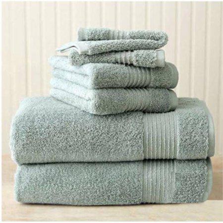 Better Homes And Gardens Extra Absorbent 6 Piece Towel Set   Green Juniper