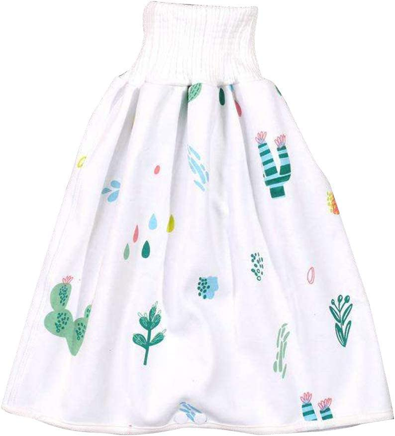 shadiao Comfy Children Diaper Skirt Shorts 2 in 1 Waterproof Super Absorbent Leak-Proof Washable Baby Diaper Skirt Pants