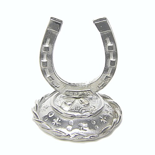 Lucky Horseshoe Ring Holder – Best Wishes Room Decor Horse Shoe – Handcrafted Pewter Made in USA