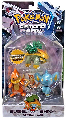 Pokemon Diamond and Pearl Series 3 Basic Figure 3-Pack Buizel, Shinx and Grotle