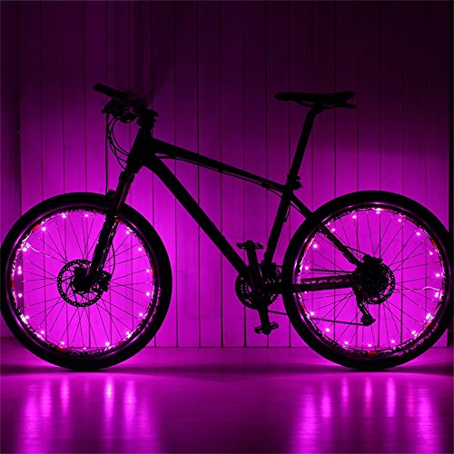 Lufei Bike Wheel Light Bike Accessories and Decoration for bicyclers to Ride at Night. Waterproof Bright Bicycle Tire Light Strip Safety Spoke Lights